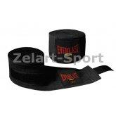 Купить Бинты боксерские (2шт) хлопок с эластаном EVERLAST BO-3729-3м(чёрные,синие,красные) недорого
