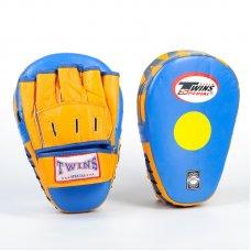 Купить Лапа Изогнутая (2шт) кожаная TWINS VL-8346 синий-желтый недорого