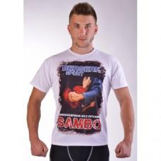 Купить Футболка BERSERK Самбо white размер XL,XXL недорого