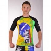 Купить Рашгард BERSERK PREMIER BJJ green/yellow  недорого