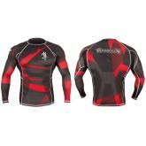 РАШГАРД HAYABUSA METARU - BLACK RED размер XL