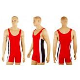 Трико для борьбы и тяжелой атлетики, пауэрлифтинга UR RG-4262-R красный бифлекс