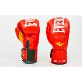 Купить Перчатки боксерские кожаные на липучке EVERLAST MA-6758-R красный недорого