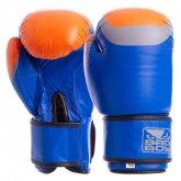 Перчатки боксерские кожаные на липучке BAD BOY MA-5433-B1 синие, черные