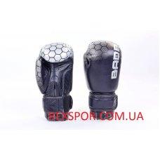 Купить Перчатки боксерские кожаные на липучке BAD BOY MA-5434-BK чёрно серые недорого