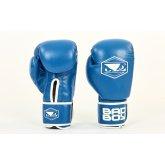 Купить Перчатки боксерские кожаные на липучке BAD BOY STRIKE VL-6615-B синий  недорого