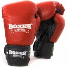 Купить Купить Боксерские перчатки Boxer (кожа) красные недорого