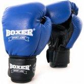 Купить Боксерские перчатки Boxer (кожа) синие недорого