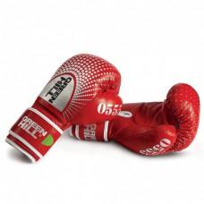 """Купить Перчатки боксерские """"0555"""" Green Hil кожа красные недорого"""
