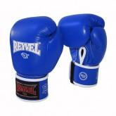 Боксерские перчатки REYVEL / Кожа синие