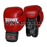 Боксерские перчатки REYVEL Кожа красные 14унц