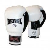 Купить Боксерские перчатки REYVEL винил белые  недорого