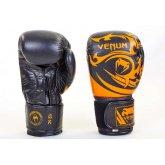 Перчатки боксерские кожаные на липучке VENUM TRIBAL VL-5777-BK