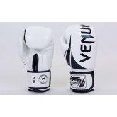 Перчатки боксерские кожаные VENUM BO-5238-WBK белый-черный