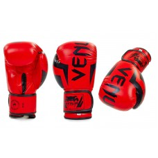 Купить купить Перчатки боксерские FLEX на липучке VENUM BO-5338-R красные 12унц недорого