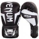 Перчатки боксерские кожаные на липучке VENUM CHALLENGER BO-5245-BK  черный-белый