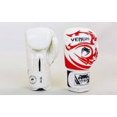 Перчатки боксерские кожаные на липучке VENUM TRIBAL VL-5777-W