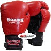 Перчатки боксерские Boxer Элит кожа (красные)