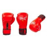 Перчатки боксерские Кожа EVERLAST BO-4748 R красные