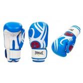 Перчатки боксерские кожаные на липучке EVERLAST BO-6162-B