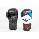 Перчатки боксерские кожаные на липучке EVERLAST MA-6748-B