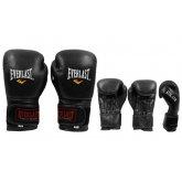Перчатки боксерские Кожа EVERLAST BO-4748 чёрные