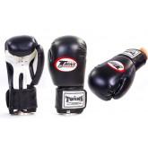 Перчатки боксерские DX на липучке TWINS MA-5316-BK чёрные