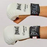 Купить Перчатки для каратэ EVERLAST BO-3956 (PU, манжет на резинке, белый) недорого