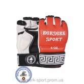 Перчатки Berserk Sport Traditional  for Pankration approved UWW 4 oz red кожанные