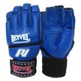 Перчатки микс файт REYVEL  кожа синие размер М