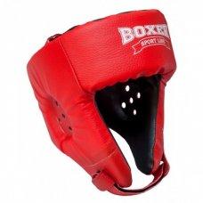 Купить Боксерский шлем Boxer (кожзам) черный, синий, красный недорого