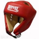 Купить Шлем боксерский REYVEL кожа красный  недорого