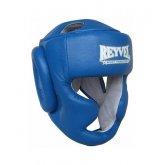 Купить Шлем REYVEL Тренировочный кожа синий  недорого