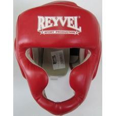Купить Шлем REYVEL Тренировочный кожа красный  недорого